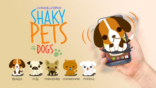 Shaky Pets Dogs Live Wallpaper