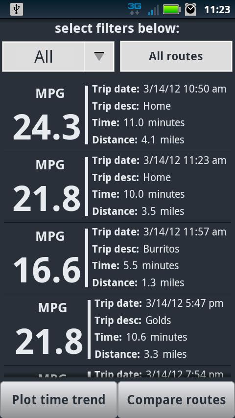 Open Road: Fuel Economy Pro - screenshot