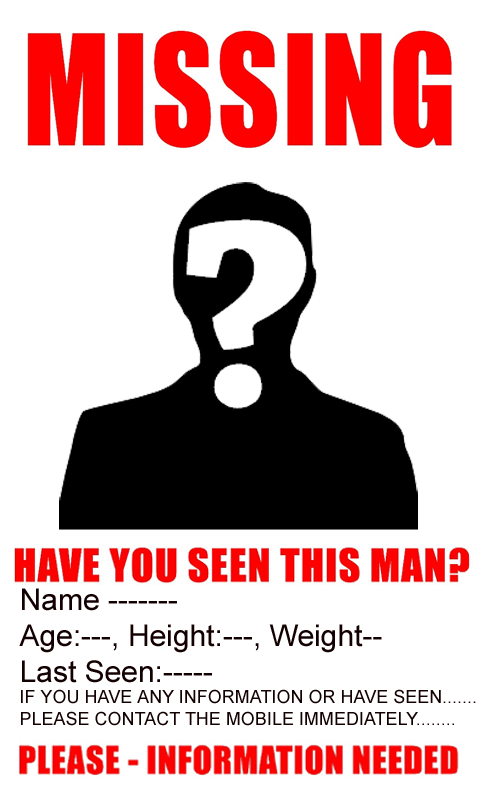 Missing Poster Android Apps on Google Play – Funny Missing Person Poster