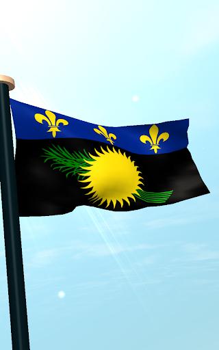 【免費個人化App】瓜德羅普島旗3D免費動態桌布-APP點子