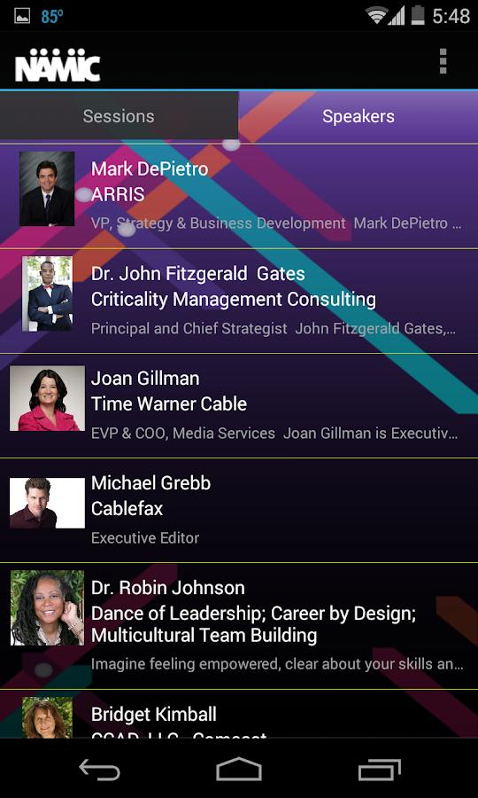 NAMIC Conference - screenshot
