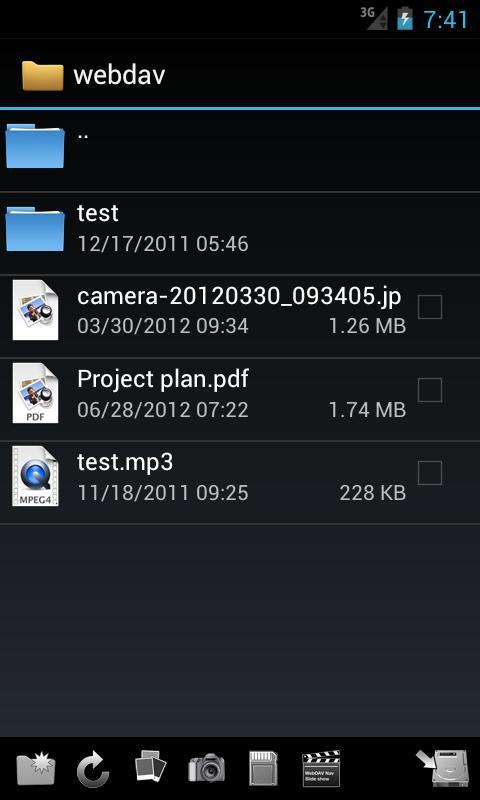 WebDAV Navigator- screenshot