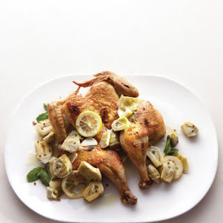 Roast Chicken with Artichokes