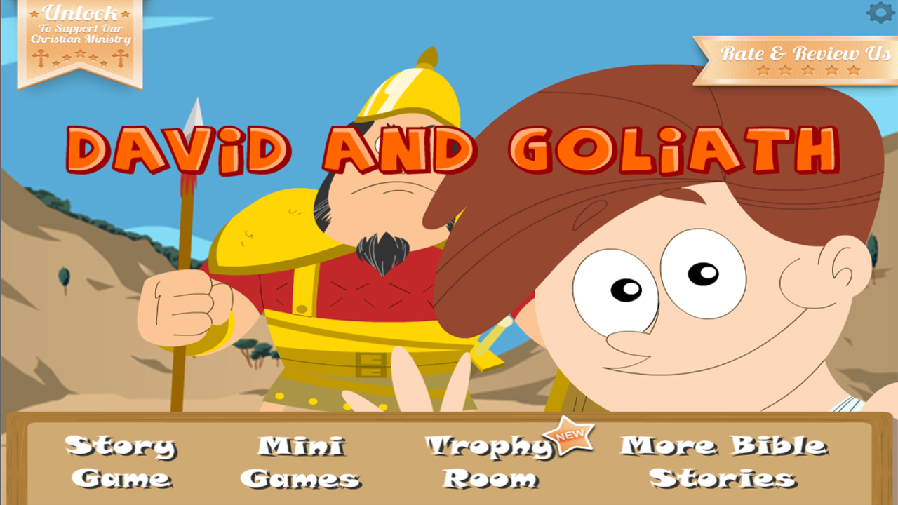 David & Goliath Bible Story - screenshot