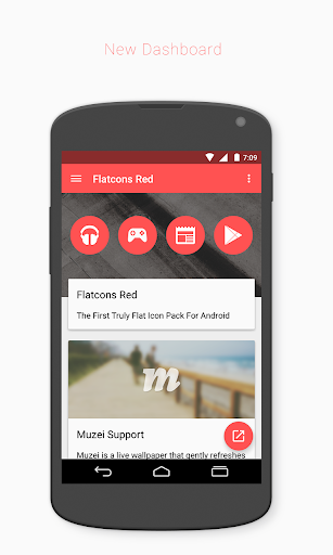 玩個人化App|Flatcons Red Icon Pack免費|APP試玩