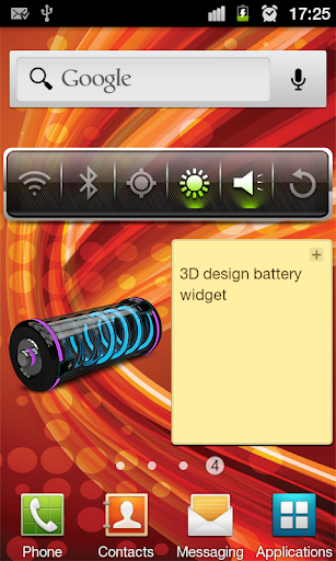 3D Design Battery Widget R3