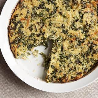 Quinoa and Kale Crustless Quiche.
