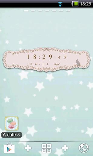 cute stylish clock widget