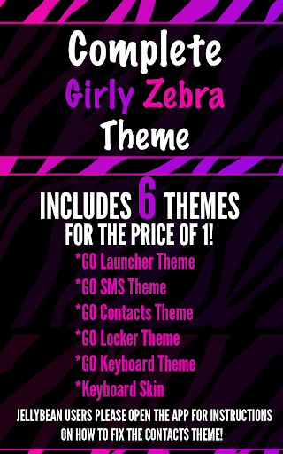 Complete Girly Zebra Theme