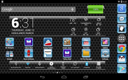 LC Aqua Theme Nova/Apex/Evie Launcher 1.05 screenshots 9