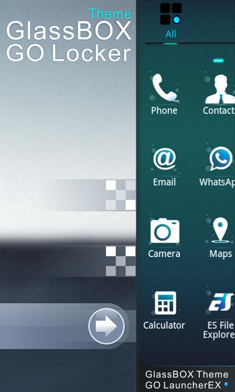 GlassBox GO Locker Theme - screenshot
