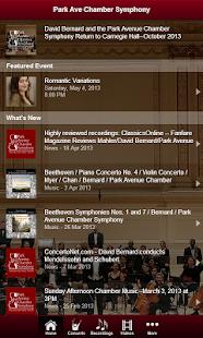 Park Avenue Chamber Symphony - screenshot thumbnail
