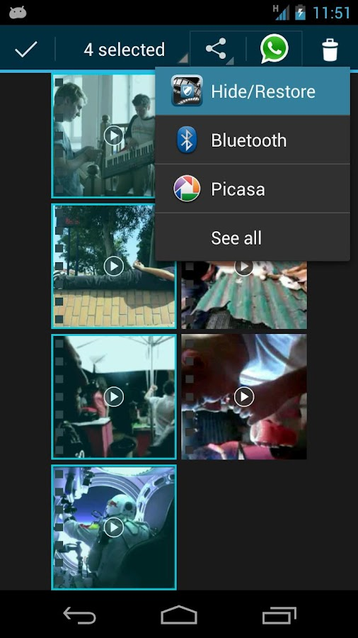 FVH - Free Video Hider - screenshot