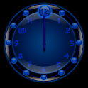 Sleek Blue Clock Widget