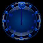 Sleek Blue Clock Widget icon