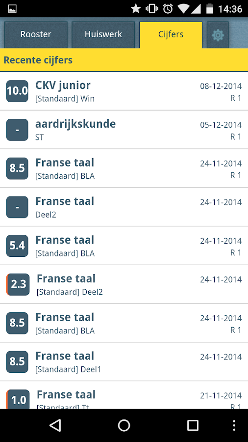 SOMtoday Mobiel- screenshot