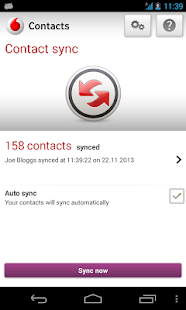 Vodafone Contacts - screenshot thumbnail