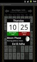 Screenshot of Muslim's Prayers times