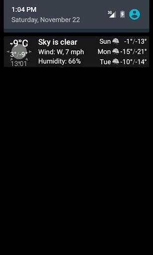 Weather notification  screenshots 1