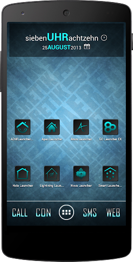 Apex Nova Semiotik Cyan Icons