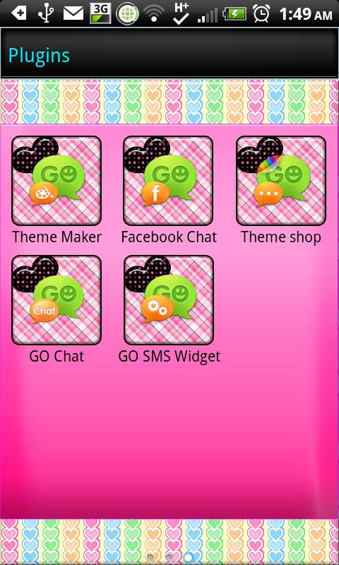 GO SMS THEME|HeartsForever - screenshot