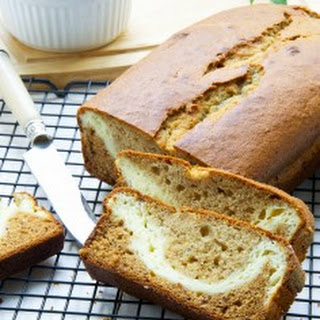 Cream Cheese Filled Banana Bread With Coconut Oil.
