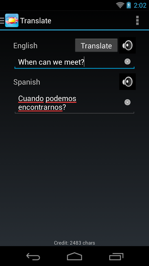 Spanish English Dictionary - screenshot
