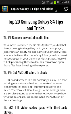 Essential Guide for Galaxy S4 - screenshot