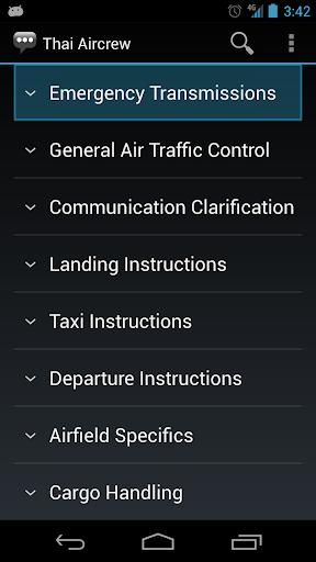 Thai Aircrew Phrases
