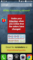 Screenshot of Attention Notes