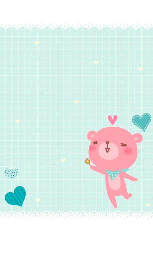 CUKI Theme Pink Happy Bear