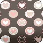 cute! brown hearts wallpaper 3
