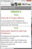 Screenshot of Fiestas Vitoria-Gasteiz 2012