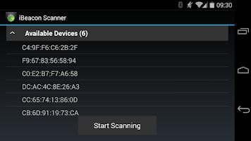 Screenshot of iBeacon Scanner Service
