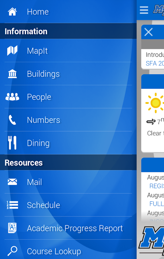 MTSU Mobile - screenshot