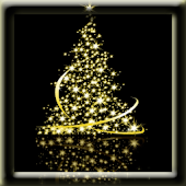 Christmas Tree Gold Lights LWP