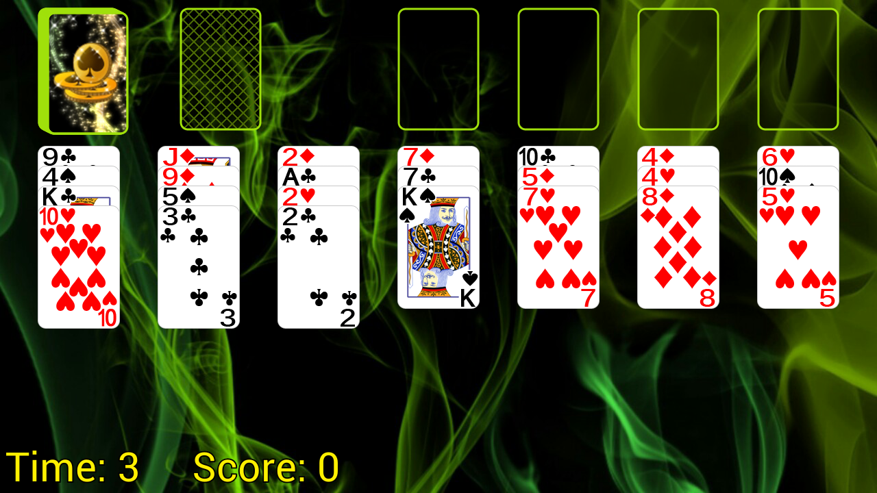 Spider Solitaire (Web rules)- screenshot