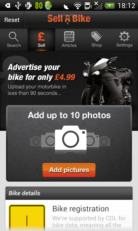 Sell A Bike - screenshot