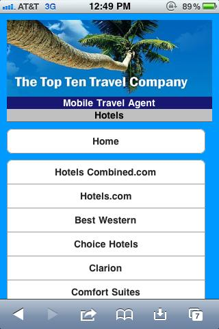 Personal Travel Agent- screenshot