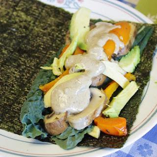 Veggie Wrap & Miso Mustard Gravy