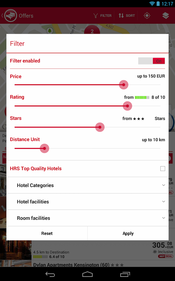 HRS App- screenshot