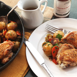 Pan-Roasted Chicken With Vegetables and Dijon Jus