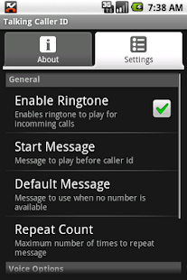 Talking Caller ID (free)- screenshot thumbnail
