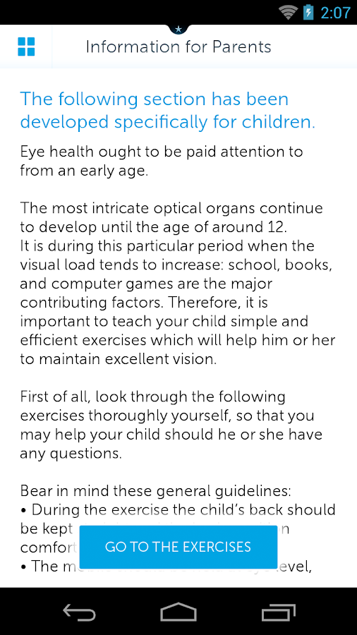 Healthy Vision- screenshot