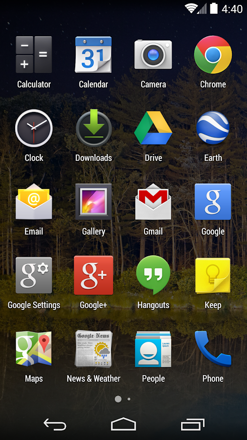 Google Now Launcher - screenshot