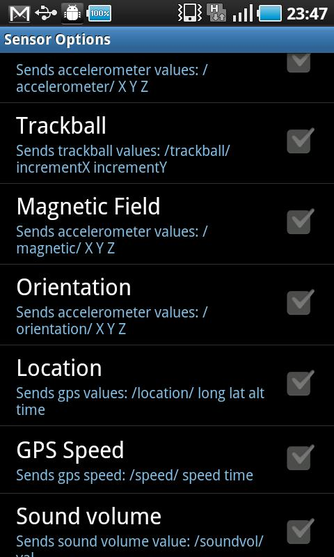 OSCdroid – Screenshot