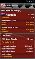 Screenshot of Race Calendar 2015