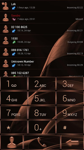 Dialer MetalGate Orange theme