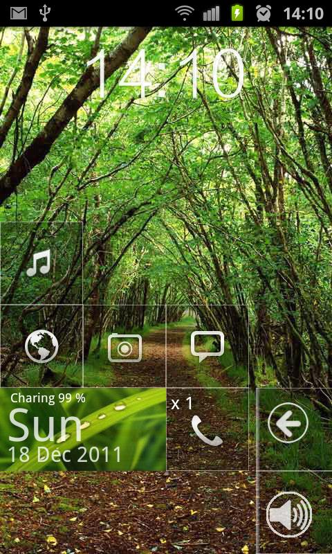 Windows phone 7 Metro Theme - screenshot