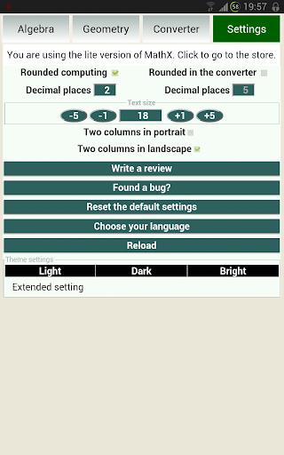 Solve geometry with MathX Lite 1.2.1 screenshots 7